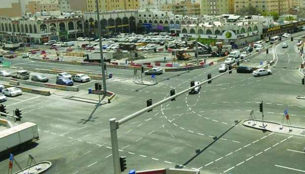 A view of Al-Rufaa Intersection after upgrading works.