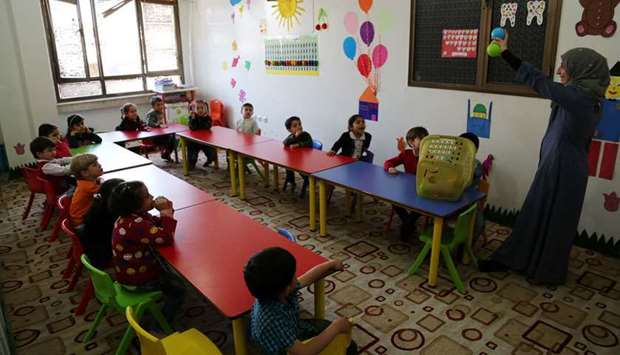 Ninety-three under-six kids were enrolled in a kindergarten