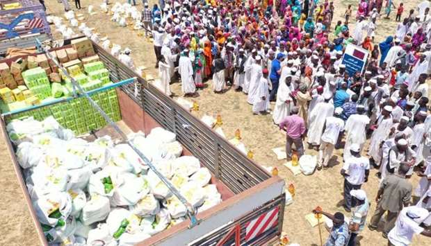 Qatar Charity distributing more than 13,650 food baskets to the affected people in Sudan