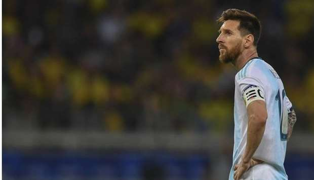 Messi is pictured during the Copa America football tournament semi-final match against Brazil at the