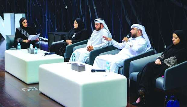 Qatari professionals share their experience at the event.