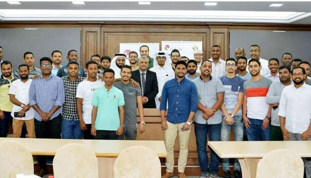 Participants of the recently concluded 18th session of Qatar Chamber's customs clearance programme.