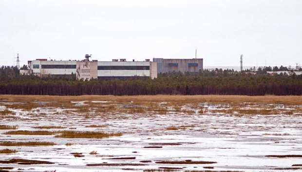 Buildings at a military base in the small town of Nyonoska in Arkhangelsk region (file photo)