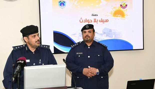 Officials announcing the details of the awareness campaign