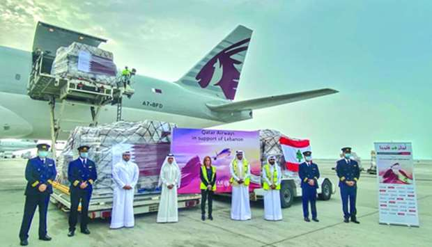 Qatar Airways Group chief executive HE Akbar al-Baker and others at HIA Sunday
