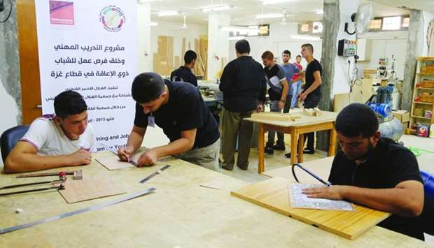 (file picture) QRCS Vocational training for persons with disability.