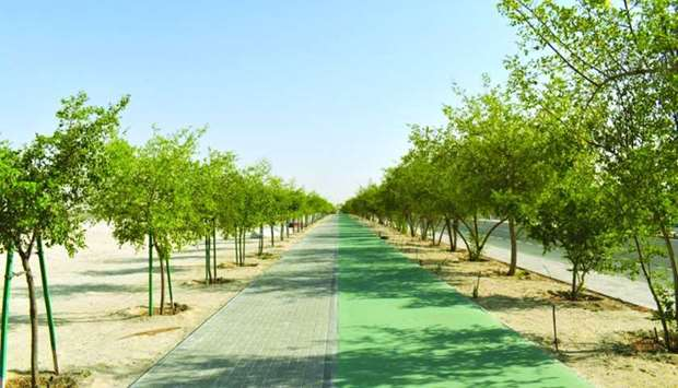 Al-Badr: the project included the construction of pedestrian and cycle paths along Al Ennabi Street.