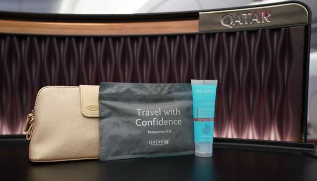 Qatar Airways provides all passengers with a complimentary protective kit onboard