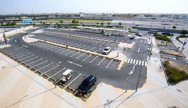 The new parking area can accommodate 165 cars.