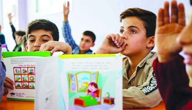 Culture ministry, QFFD help displaced Syrian children turn the page