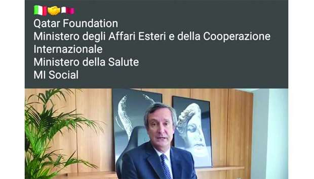 Italian ambassador Alessandro Prunas on Facebook promoting the joint campaign with QF.