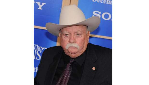 "In this file photo taken on December 14, 2009 actor Wilford Brimley attends the premiere of ""Did You"