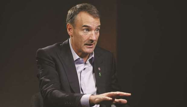 Bernard Looney, CEO of BP, speaks during a Bloomberg Television interview in London. On Tuesday, BP