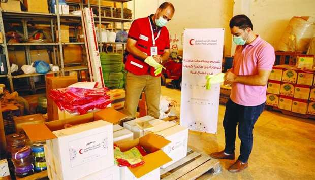 QRCS supports Covid-19 combating efforts in Gaza