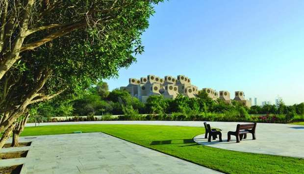 A view of Qatar University campus