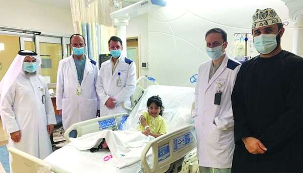 Maryam with physicians.
