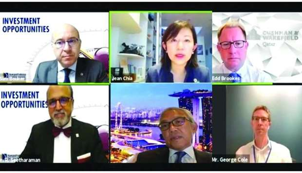 """Dr Seetharaman and other dignitaries during a webinar on """"Investment Opportunities"""" held recently."""