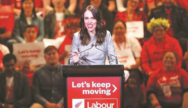 New Zealand's Prime Minister Jacinda Ardern attends the launch of the Labour Party's election campai