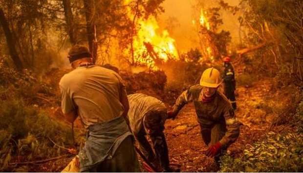 Parts of Greece are burning, with media reports showing areas of the Mediterranean and Aegean provin