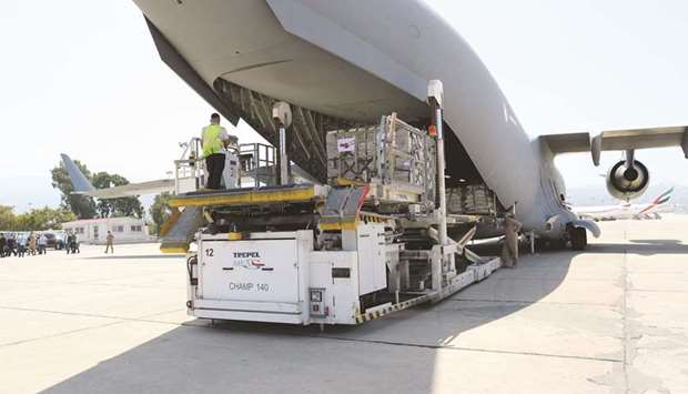 This is the second shipment of food aid provided by Qatar to the Lebanese army.