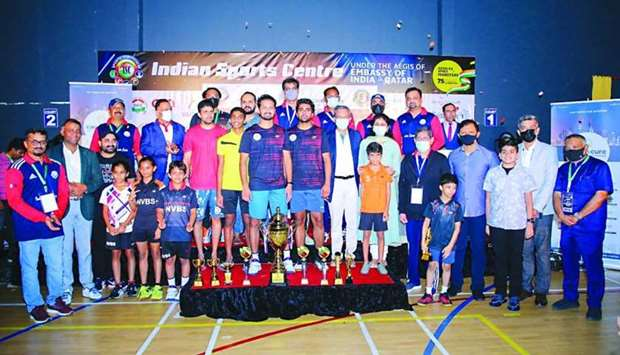 Indian Ambassador to Qatar Dr. Deepak Mittal handed over the trophies to the winners of the Indian I