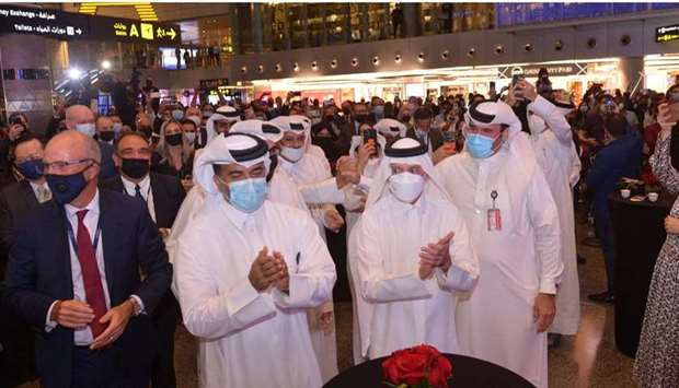 The announcement that was made in London was telecast live at a media event at the Hamad Internation