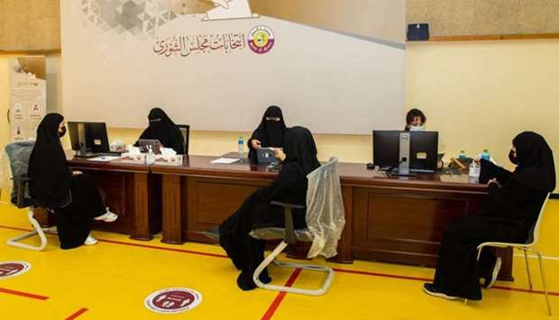 The voter registration process for the Shura Council elections in its first session, which lasted fi