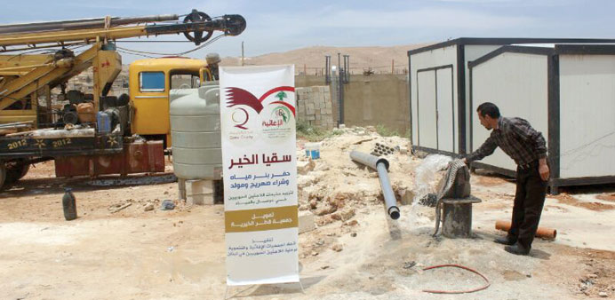 One of QC's water projects for Syrian refugees in Lebanon.