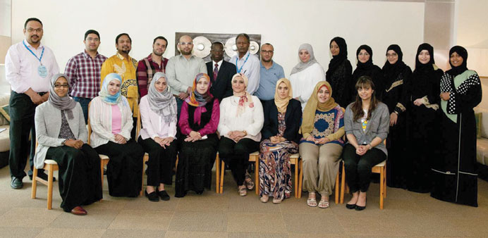 Dr Ahmed Awaisu with the participants in the programme.