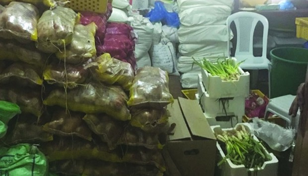 Food items were found stored in the labour accommodation in unsuitable conditions.