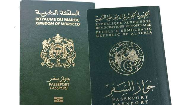 Moroccan and Algerian passports