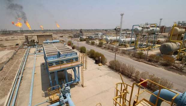 A general view of an oil field in Iraq