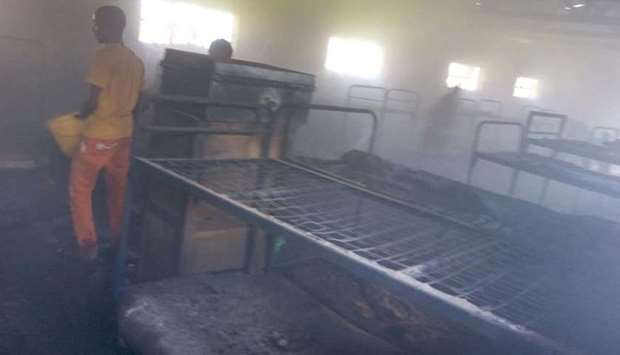Moi Girls High School fire