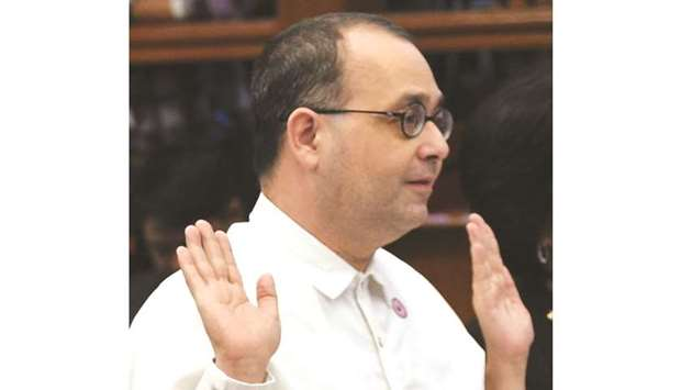 Rights agency chief Chito Gascon is facing opposition from the government.
