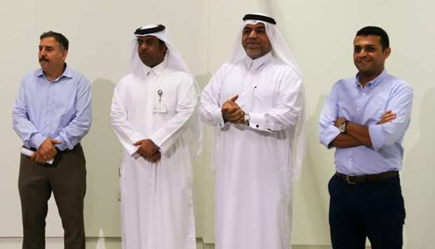 Khalifa al-Obaidli, director of the Fire Station, welcomed the artists during a reception hosted rec