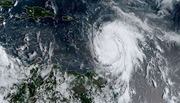 satellite image shows Hurricane Maria