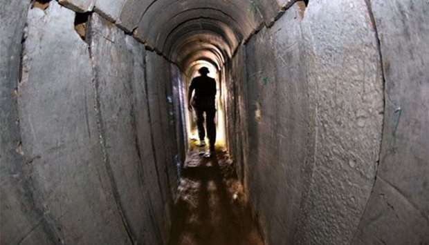 A tunnel built by Hamas. File picture