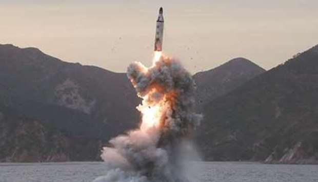 An 'underwater test-fire of strategic submarine ballistic missile' conducted at an undisclosed locat