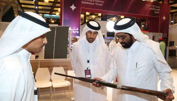 HE the Minister of Development Planning and Statistics Dr Saleh Mohamed Salem al-Nabit during his vi