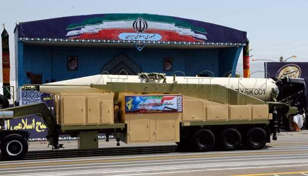 The new Iranian long range missile Khoramshahr