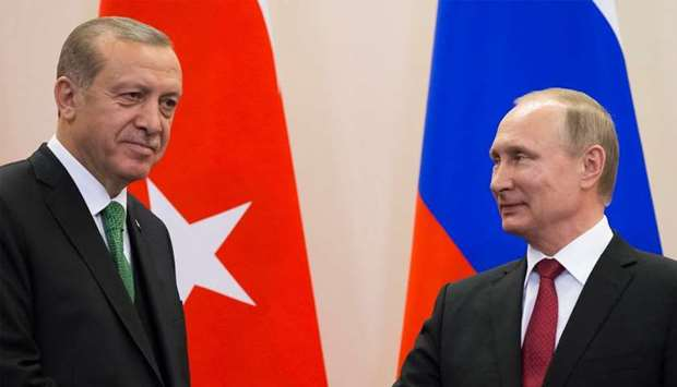 Turkish President Tayyip Erdogan and Russian President Vladimir Putin