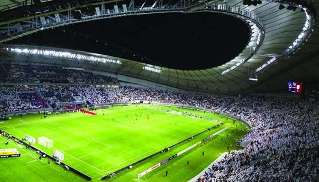 Spectators attend the Emir Cup Khalifa International Stadium in May this year