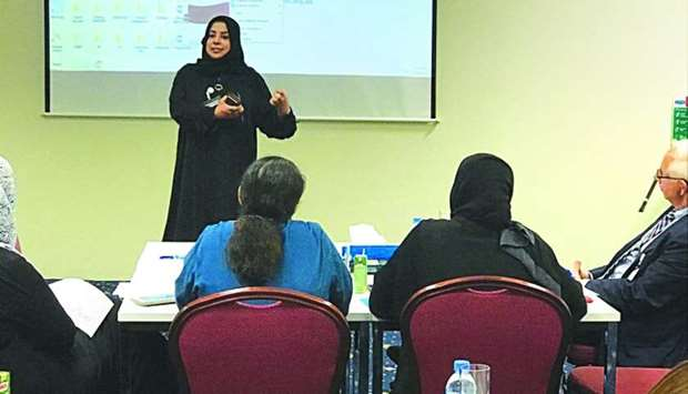 Dr Aisha al-Malki speaking during the workshop