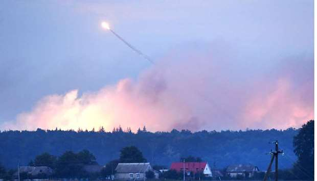 Explosions at the military munitions depot in Kalynivka