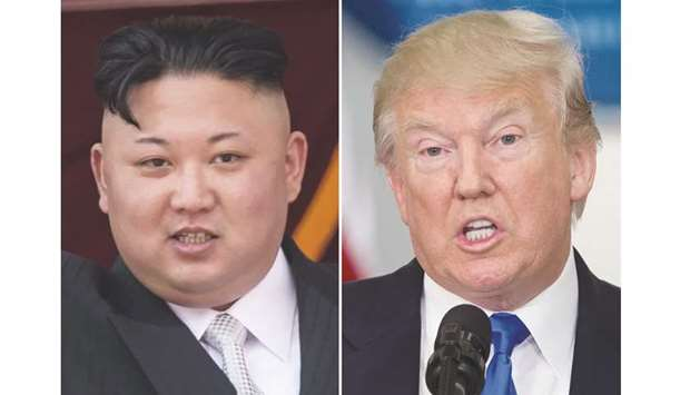 Kim Jong-un and President Trump.