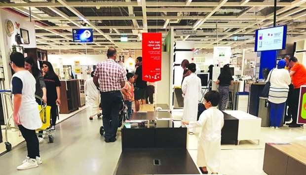 Furniture and household shops in Doha get increasing footfall during Eid al-Adha.