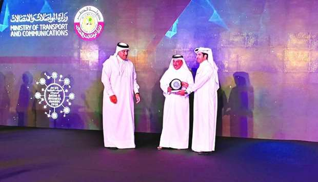 HE the Minister of Transport and Communications Jassim Seif Ahmed al-Sulaiti leads the ceremony of t