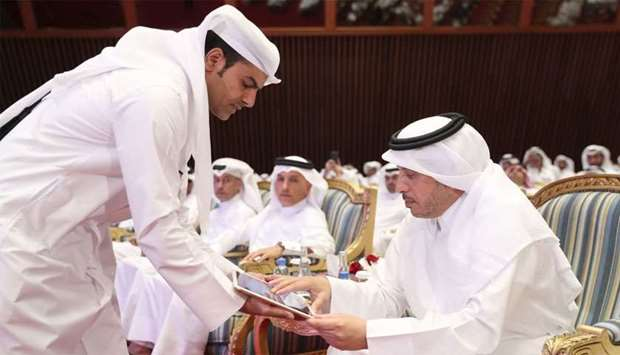 HE the Prime Minister and Interior Minister Sheikh Abdullah bin Nasser bin Khalifa al-Thani launchin