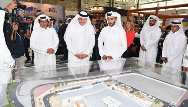HE the Minister of Municipality and Environment Mohamed bin Abdullah al-Rumaihi at Ashghal's pavilio