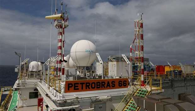 A structure of the Brazil's Petrobras P-66 oil rig in the offshore Santos basin is seen in Rio de Ja